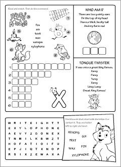 ABC worksheets for learning English