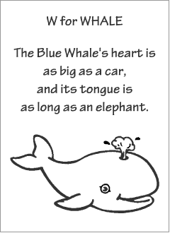 English printable resources: Whale readers