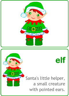 Christmas flashcards for kids learning English