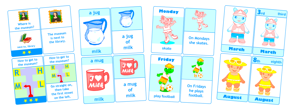Printable flashcards for kids learning English