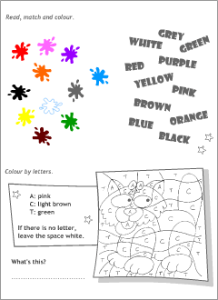 Activity sheets for kids learning English
