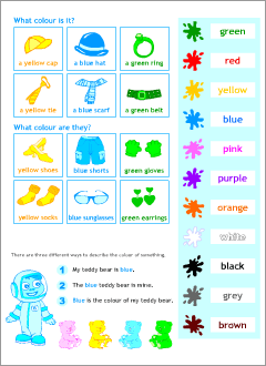 Materials for kids learning English
