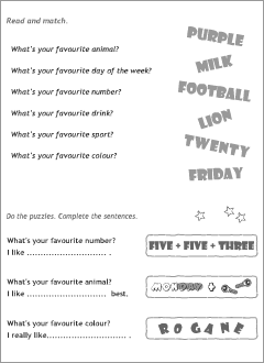Teaching resources: activity sheets