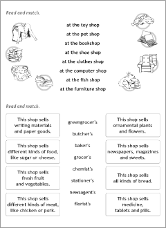 Activity worksheets for kids learning English