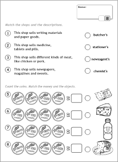 Test worksheets for kids learning English