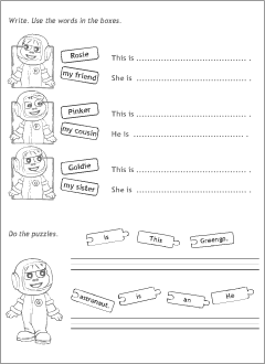 Worksheets to practise English