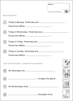 Days of the week in English | Printable resources