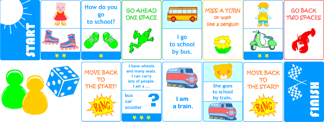 Printable games for teaching English