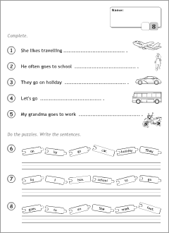 Printables to teach English to kids