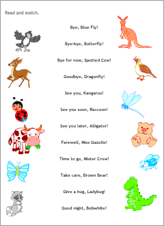 Fun English worksheets for kids