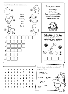 Easter worksheets for learning English