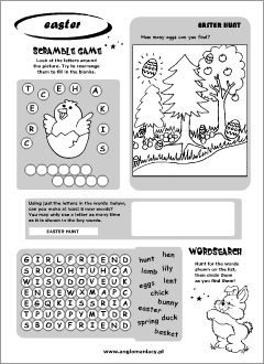 Easter worksheets for kids learning English