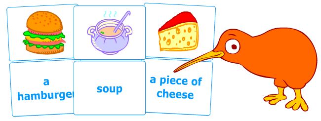 Flashcards to teach English grammar