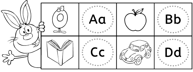 English grammar domino games: ABC