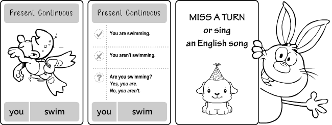 English grammar quiz games: present continuous