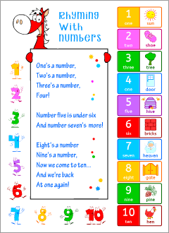 Rhyming with numbers