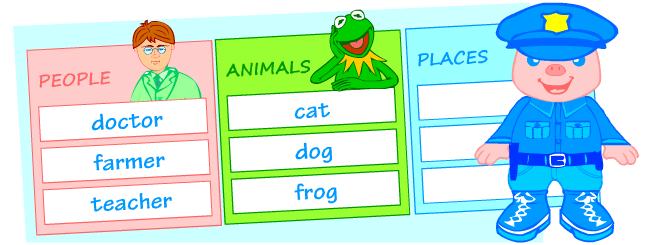 Printable worksheets for learning nouns