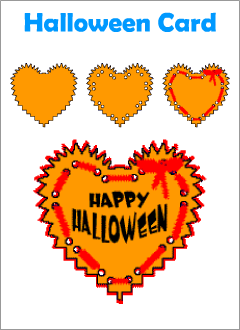 Halloween cards for kids learning English
