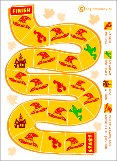 Halloween board games for kids learning English