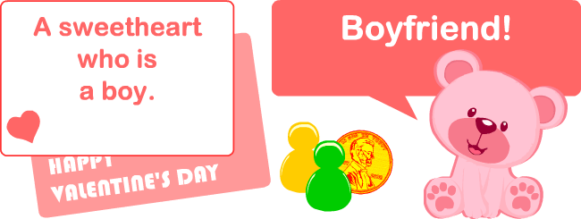 English learning games: Valentine's Day