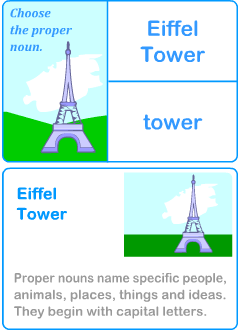 Quiz games for learning English nouns