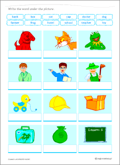 Worksheets to learn English common and proper nouns