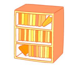 English words: bookcase