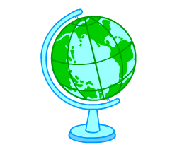 English words: globe