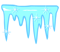 English words: icicles