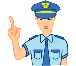 English words: policeman