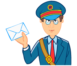 English words: postman