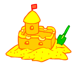 English words: sandcastle
