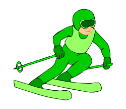 English words: skiing