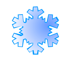 English words: snowflake
