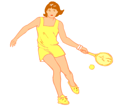 English words: tennis