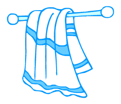 English words: towel