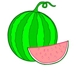 English words: watermelon