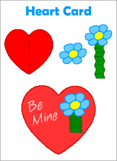 Valentine's Day cards for kids learning English