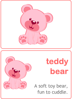 Valentine's Day flashcards for kids learning English
