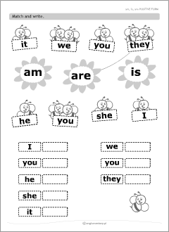 Resultado de imagen de verb to be exercises for kids printable