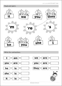 English teacher's resources: to be worksheets