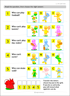 The modal verb can: ESL worksheets