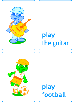 Flashcards to play learning games