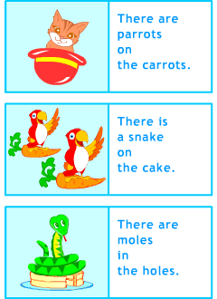 Grammar games for learning English