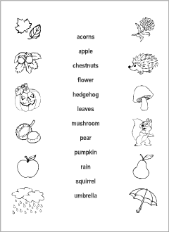 Worksheets for learning English vocabulary