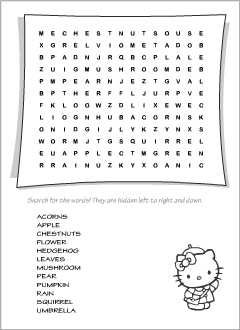 Word searches for teaching English to kids