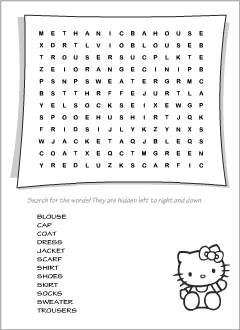 Wordsearch puzzles for English learners