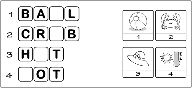 Worksheets to practise spelling skills