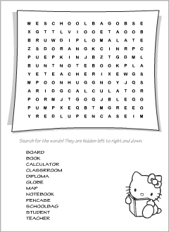 word searches for teaching english to kids worksheets - School Worksheet Printables