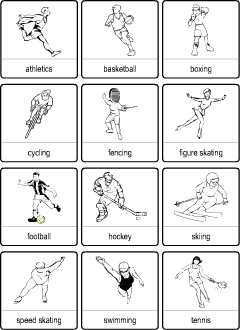 sport vocabulary for kids learning english printable resources. Black Bedroom Furniture Sets. Home Design Ideas